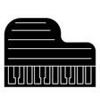 piano grand icon black sign vector image vector image