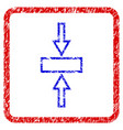 pressure vertical grunge framed icon vector image vector image