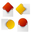 red and yellow attached labels vector image vector image