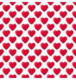 red glossy candy hearts seamless pattern vector image vector image