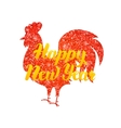 Red Rooster Chinese New Year vector image vector image