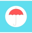 red umbrella in stroke-style vector image vector image