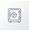 safe icon line symbol premium quality isolated vector image