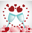 saint valentines day design vector image