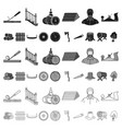 sawmill and timber cartoon icons in set collection vector image vector image