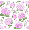 seamless background with hydrangea flowers vector image vector image