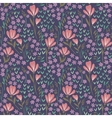 Seamless Floral Pattern on dark background vector image