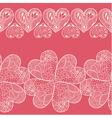 Seamless heart borders set vector image vector image