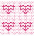 seamless pattern with purple hearts vector image vector image