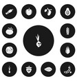 set of 13 editable food icons includes symbols vector image vector image