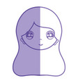 silhouette woman face with expression and vector image vector image