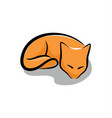 sleeping red fox vector image vector image