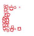 social media marketing background vector image vector image