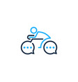 talk bike logo icon design vector image
