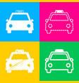 taxi sign four styles of icon on vector image vector image