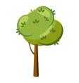 Thick tree icon cartoon style vector image