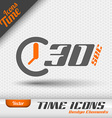 Time Icon 30 Seconds Symbol Design Elements vector image vector image