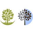 Tree emblem 3 isolated on white vector