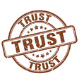 trust brown grunge round vintage rubber stamp vector image vector image