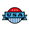 United States of America USA Vintage Stamp vector image