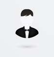 user icon of man in business suit Isolated on vector image vector image