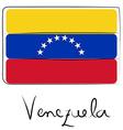 Venezuela flag doodle vector image vector image