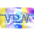 vpn connection chain background secure virtual vector image vector image