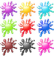 Water splash in many colors vector image vector image
