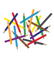 Weave of Colored Pencils vector image vector image