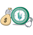 with money bag kyber network character cartoon vector image vector image