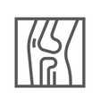 x ray orthopedic line icon vector image vector image