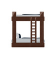 double deck bed icon vector image