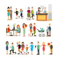 relationship concept flat icon set vector image