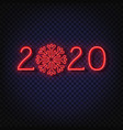 2020 neon text 2020 new year design template for vector image