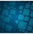 Abstract blue background with cube mosaic vector image