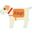 Adopt vector image vector image