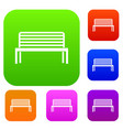 bench set collection vector image vector image
