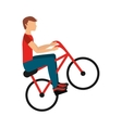 bicycle extreme isolated icon design vector image vector image