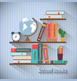 Bookshelves with textbooks vector image vector image