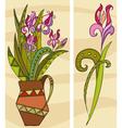 Bunch Purple Flowers vector image
