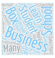 business school in a box 1 text background vector image vector image