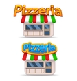 Cartoon pizzeria icon vector image