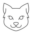 cat thin line icon halloween and pet animal sign vector image vector image