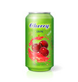 cherry cola in aluminum can isolated vector image vector image