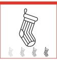 Christmas stocking icon vector image vector image