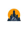 city bike logo icon design vector image vector image