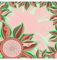 Colorful flowers pattern background Floral frame vector image vector image