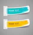 Colorful label paper brush stroke