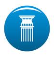 column icon blue vector image