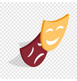 comedy and tragedy theatrical masks isometric icon vector image vector image
